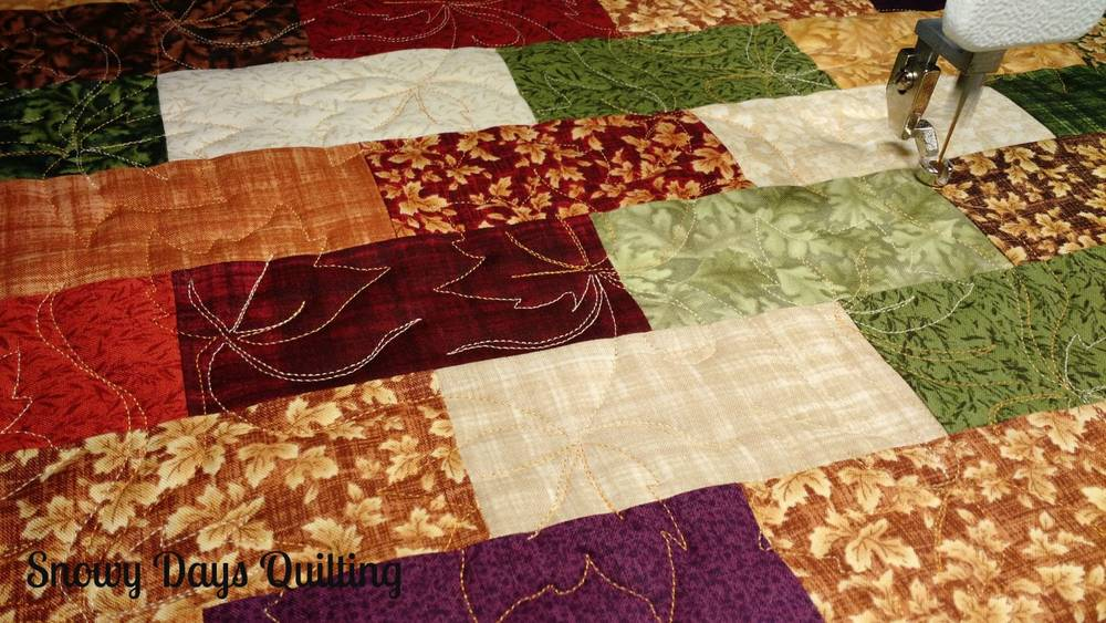quilted fall table runner maple leaf quilting