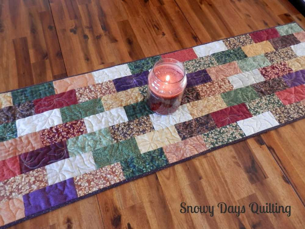 quilted fall table runner maple dance