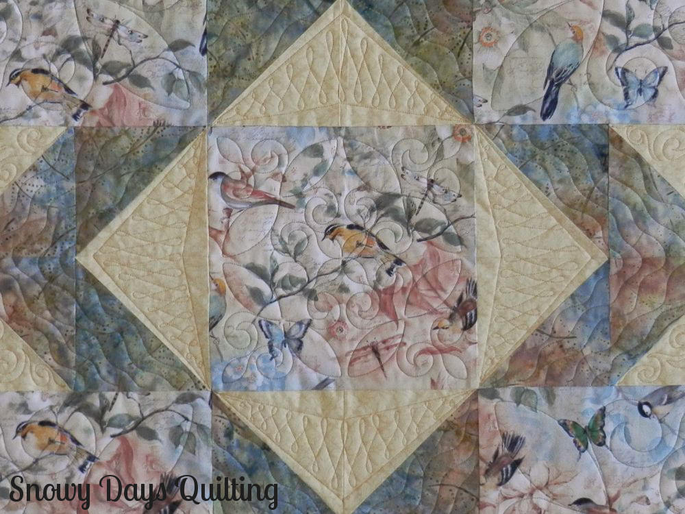 bird quilt large scale print focus fabric