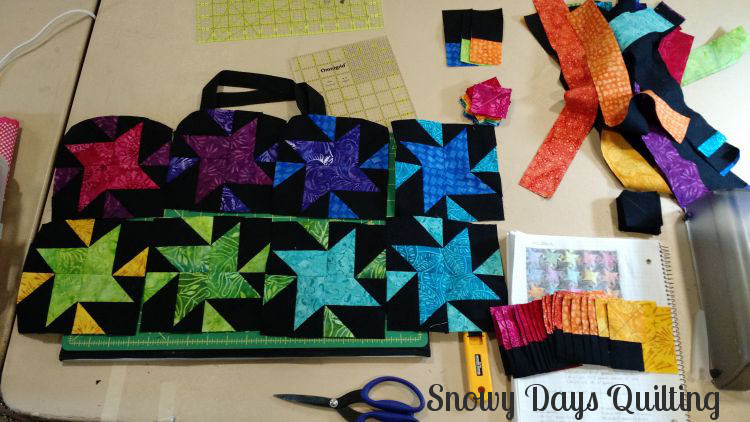 Star Struck quilt class with Bonnie Hunter