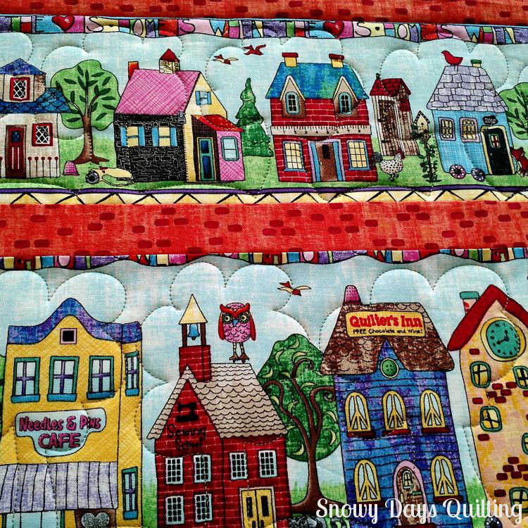 custom quilted home sweet home quilt
