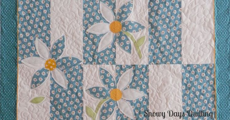 Crazy Daisy Snowy Days Quilting