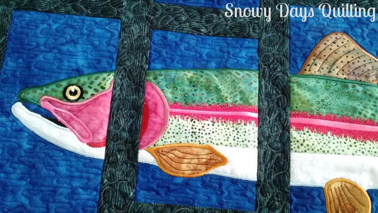 rainbow trout About Trout quilt