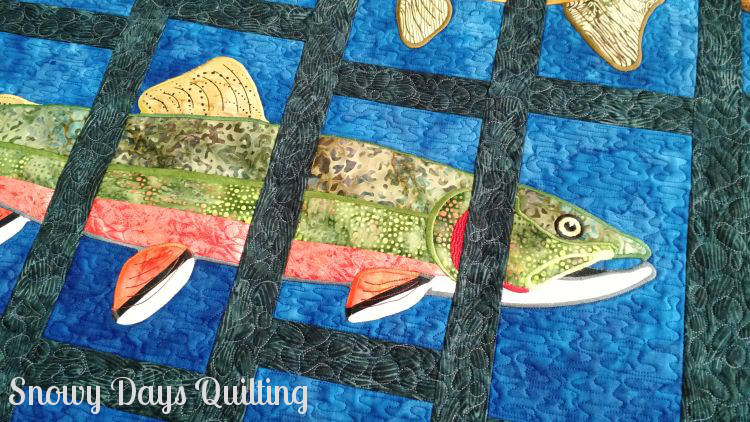 brook trout About Trout quilt