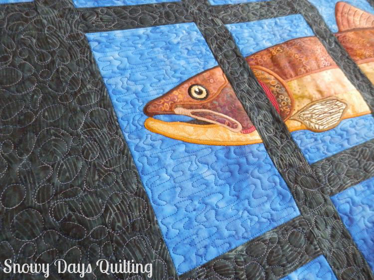 custom quilted brown trout About Trout quilt