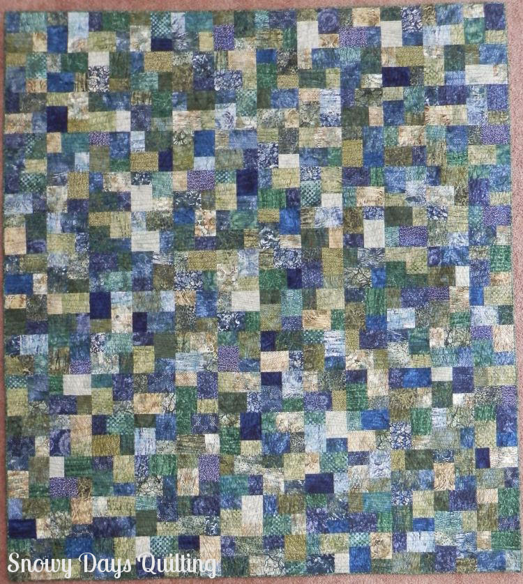 Jungle Shadows quilt top
