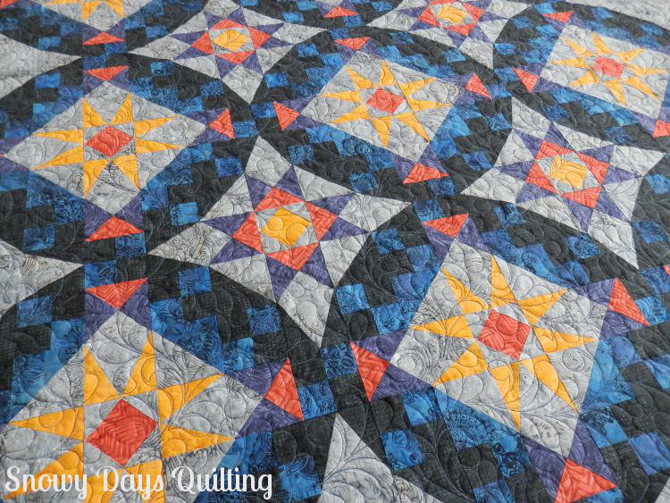 En Provence quilt Feather Flourish quilting