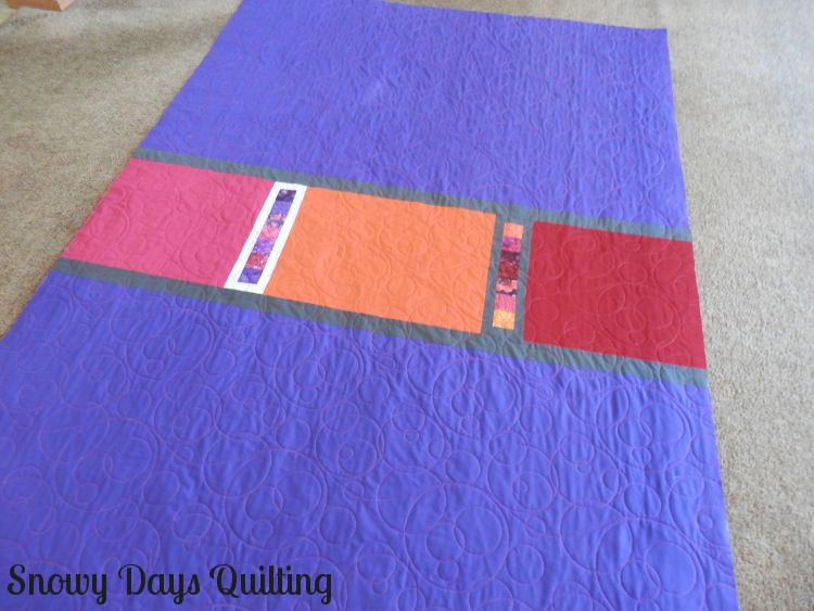 Roller Rink quilt back