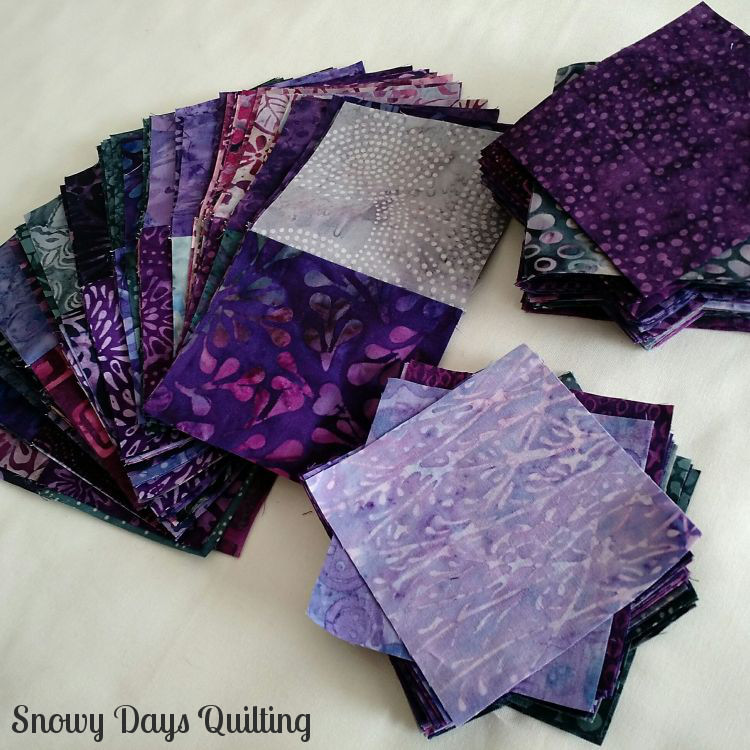 batik quilt pieces