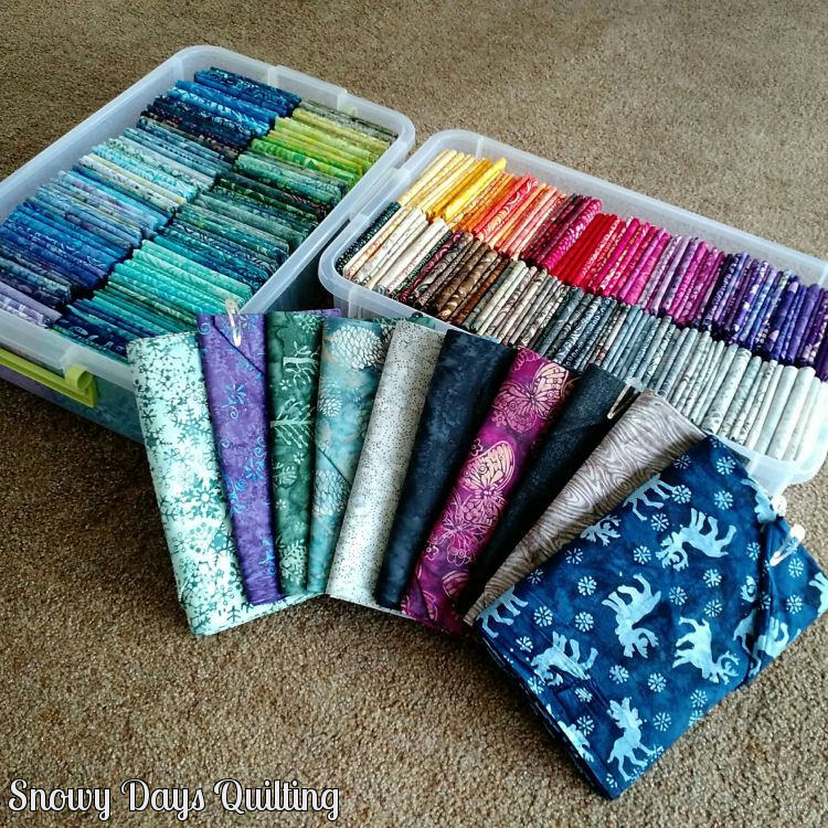 batik fabric stash