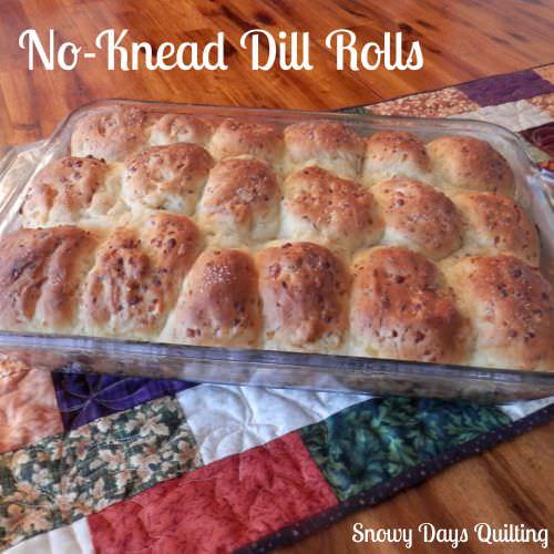 No-Knead Dill Rolls