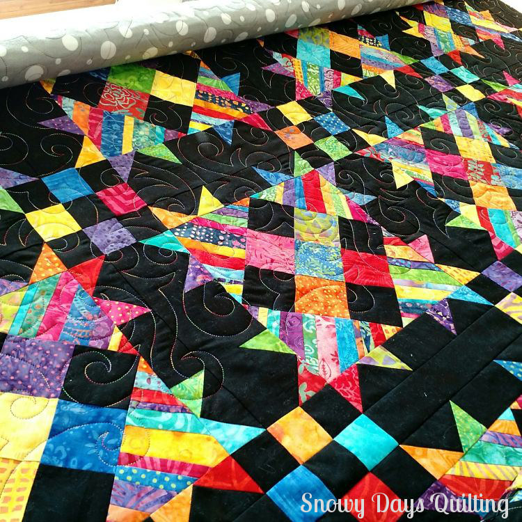 rainbow talkin' turkey quilt