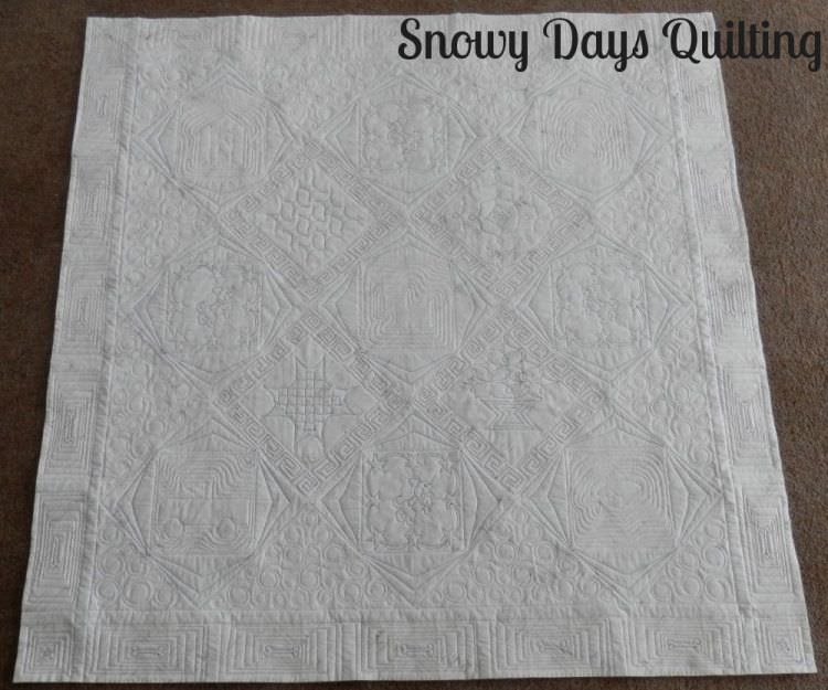 custom quilted solid quilt back