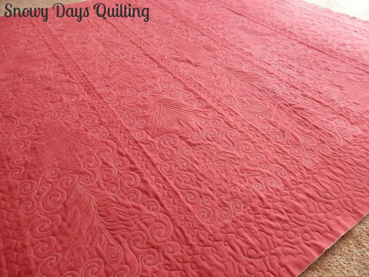 custom quilting solid quilt back