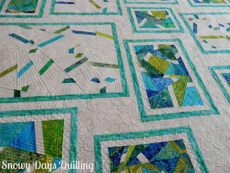 custom quilted improv quilt