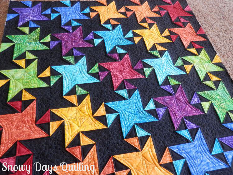 rainbow star struck quilt
