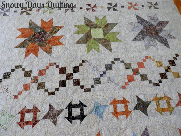 Quilting Design:  Alex by Anne Bright  Quilt Maker:  Barbara Beller  Quilt Pattern:  Pleasantville by  Kimberly Einmo