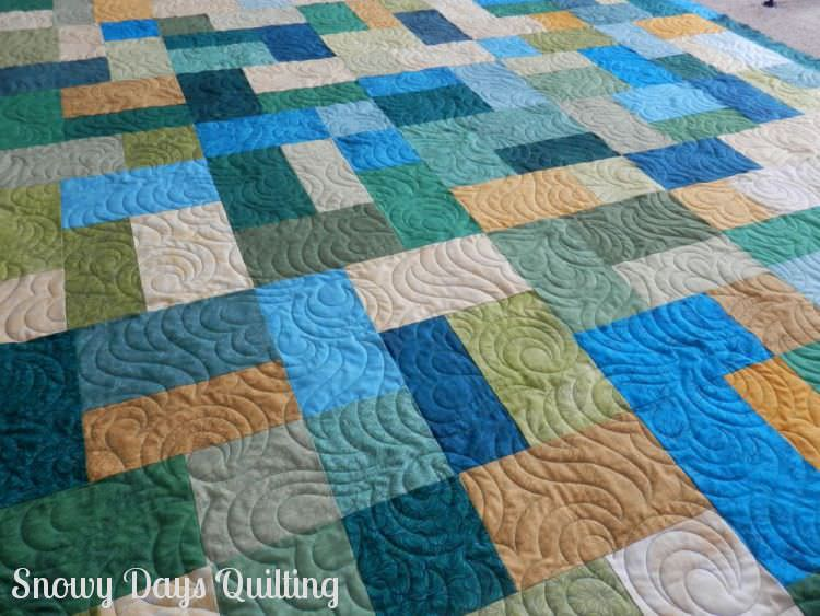 Quilting Design:  Calliope by Patricia Ritter  Quilt Maker:  Barbara Beller  Quilt Pattern:  This is a modified version of Turning Twenty by Tricia Cribbs of  Turning Twenty .