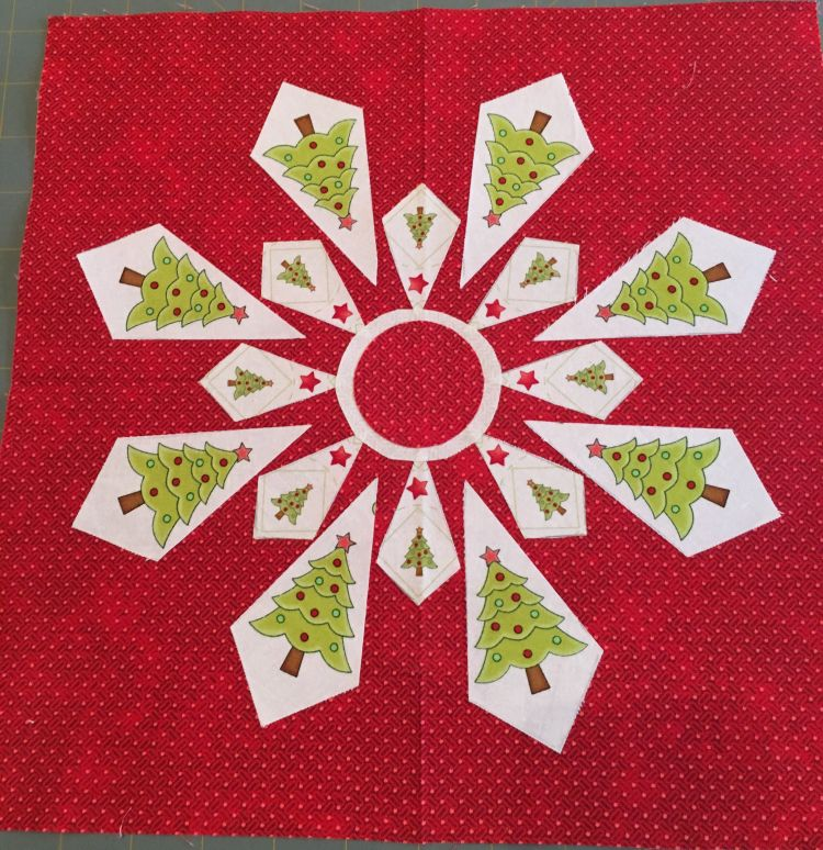 JANDA Bend Quilts fussy cut snowflake