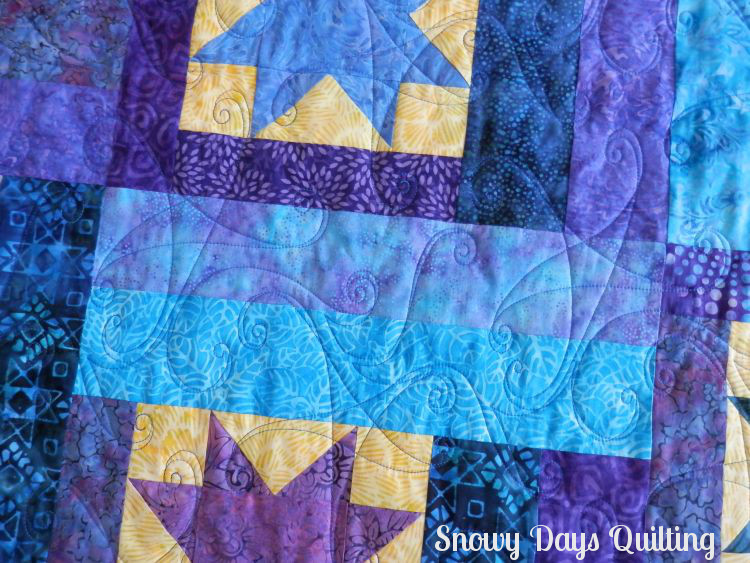 swinging on a star quilting pantograph