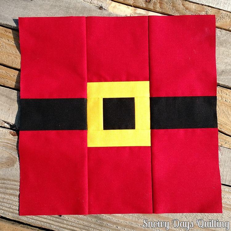 Santa's Belt quilt block