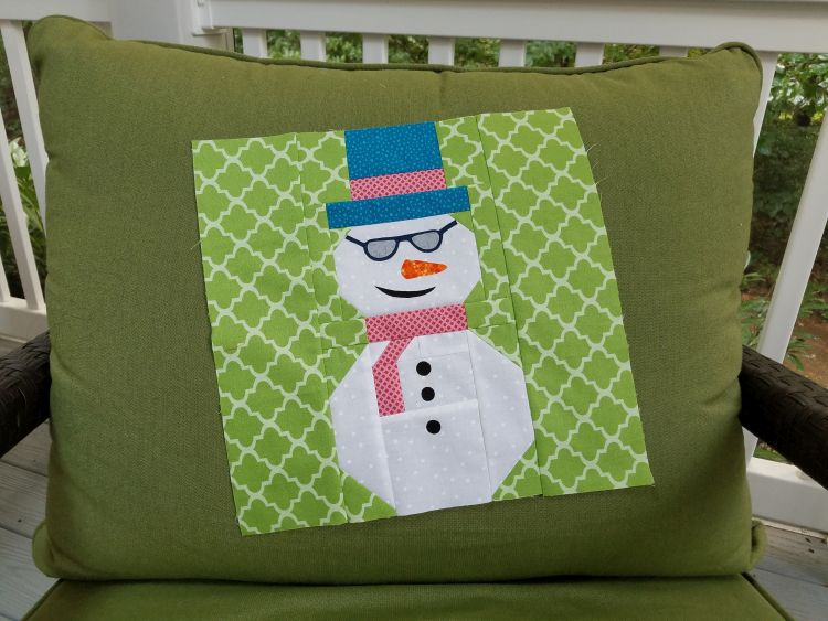 Sandy Maxfield snowman block