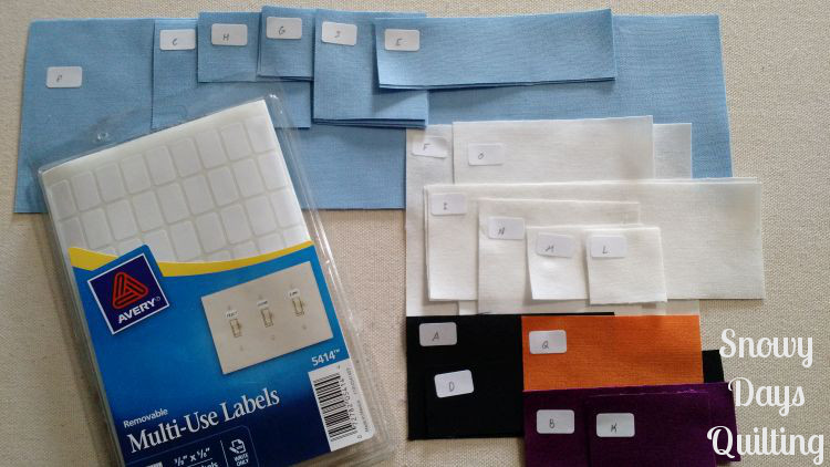 organizing fabric for quilting