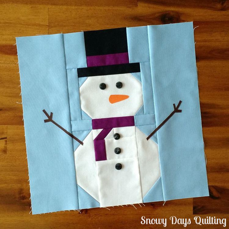 snowman quilt block