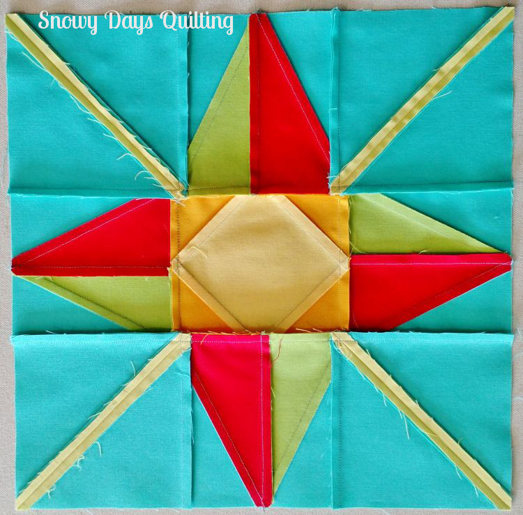 pressing north star quilt block