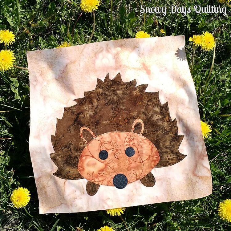 hedgehog quilt block