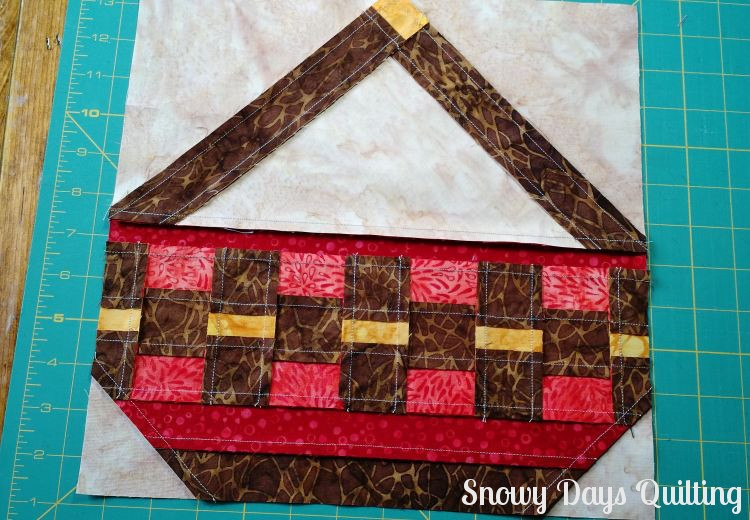 back of harvest basket quilt block
