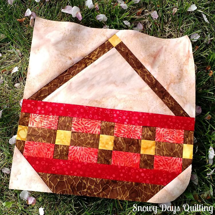 harvest basket quilt block