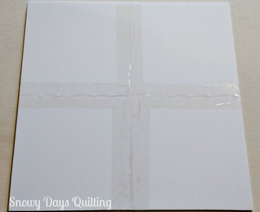 making a quilt block design board from scraps