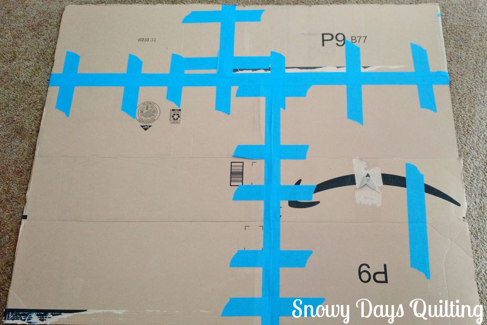 Handprint quilt u snowy days quilting