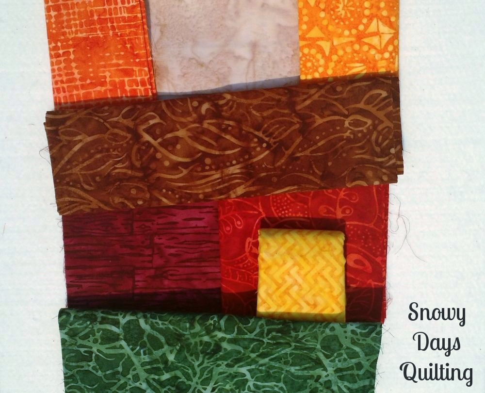 choosing colors for a quilt block
