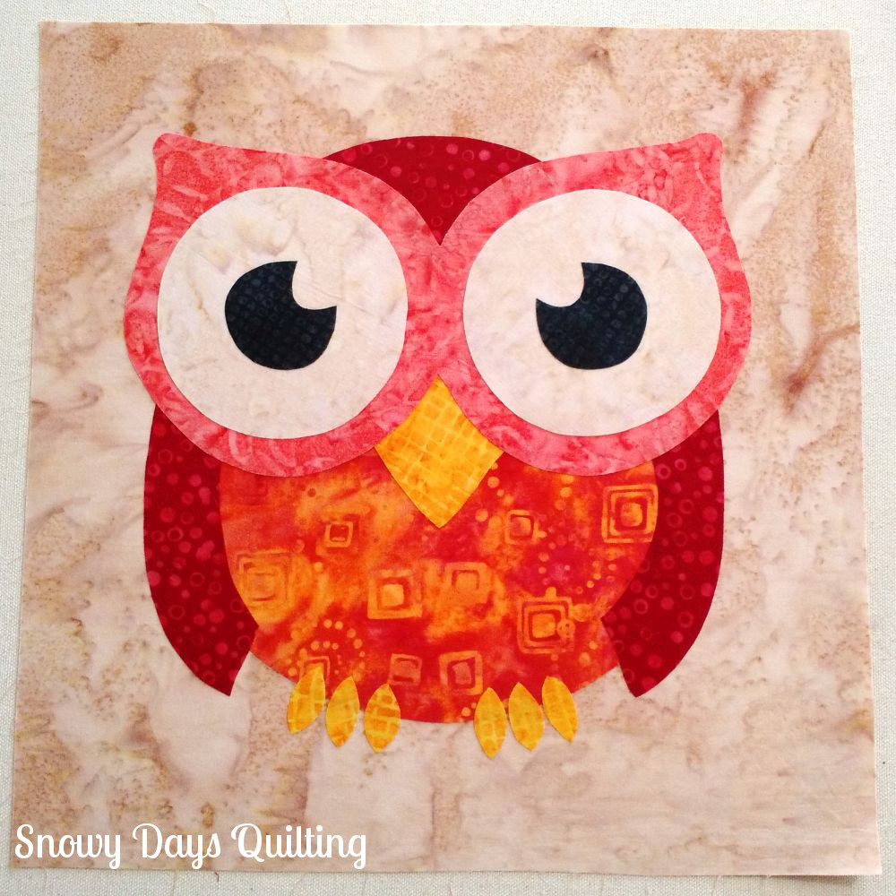 applique owl