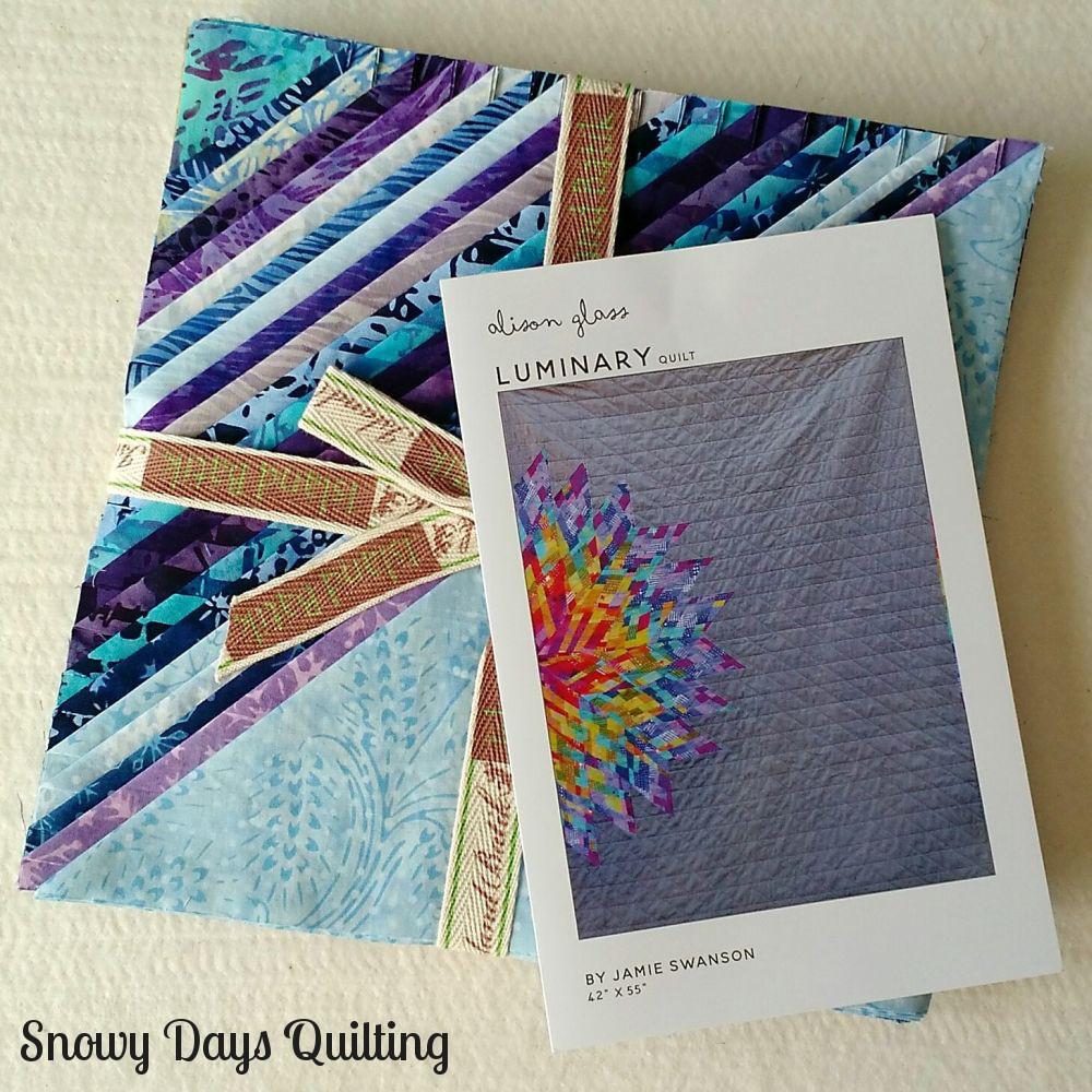 Luminary quilt by Jamie Swanson for Alison Glass with Island Batik Blue Moon fabric