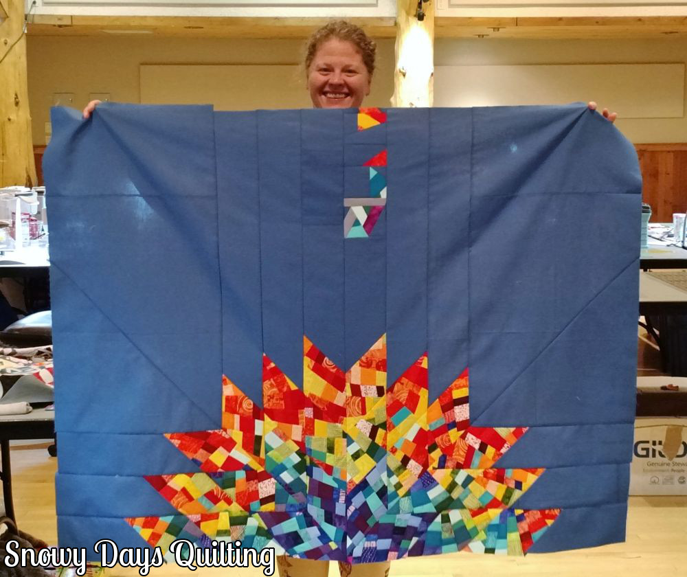 Luminary quilt by Jamie Swanson for Alison Glass with solid fabrics