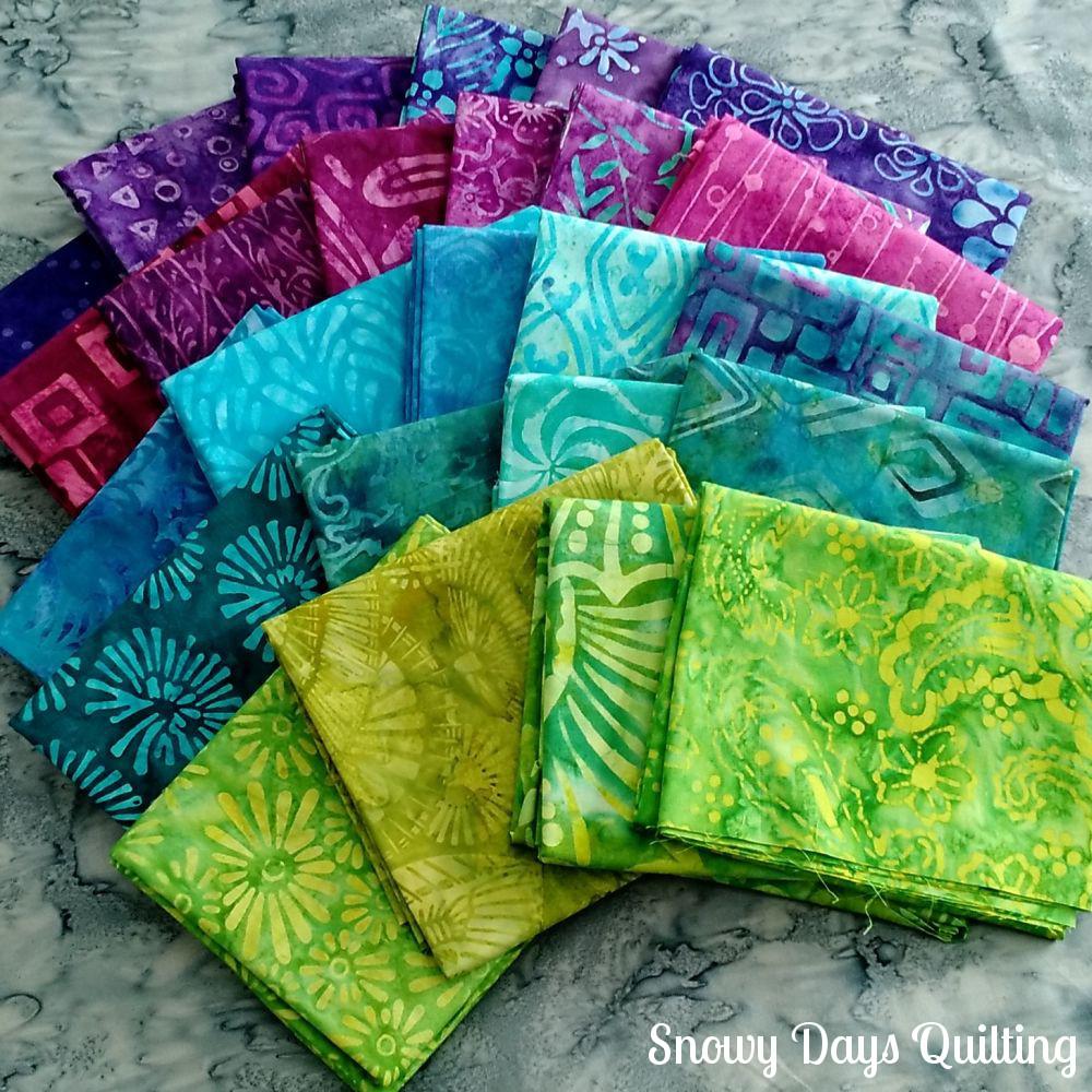batik fabric pull