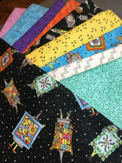 SewLetsQAL fabric pull JANDA Bend Quilts