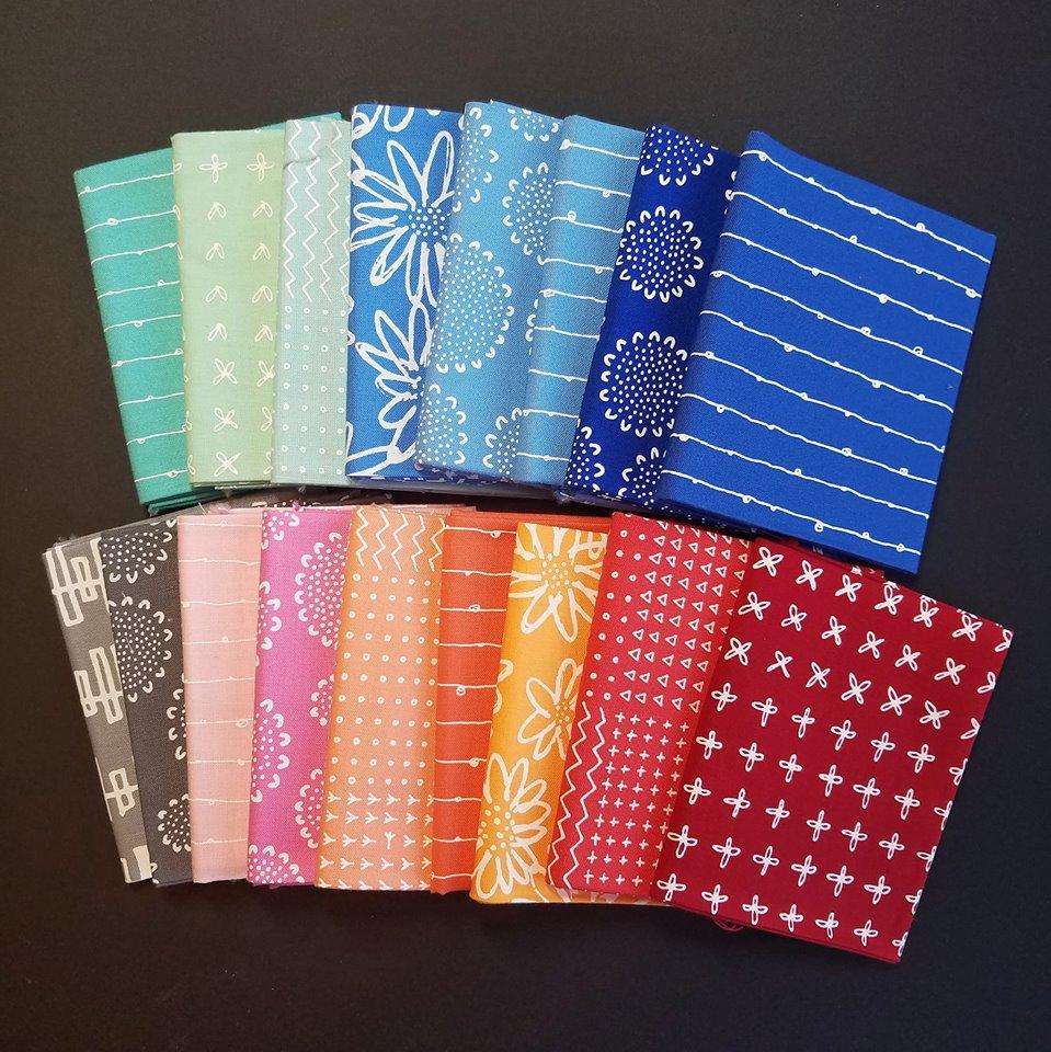 SewLetsQAL fabric pull SandyStar Designs