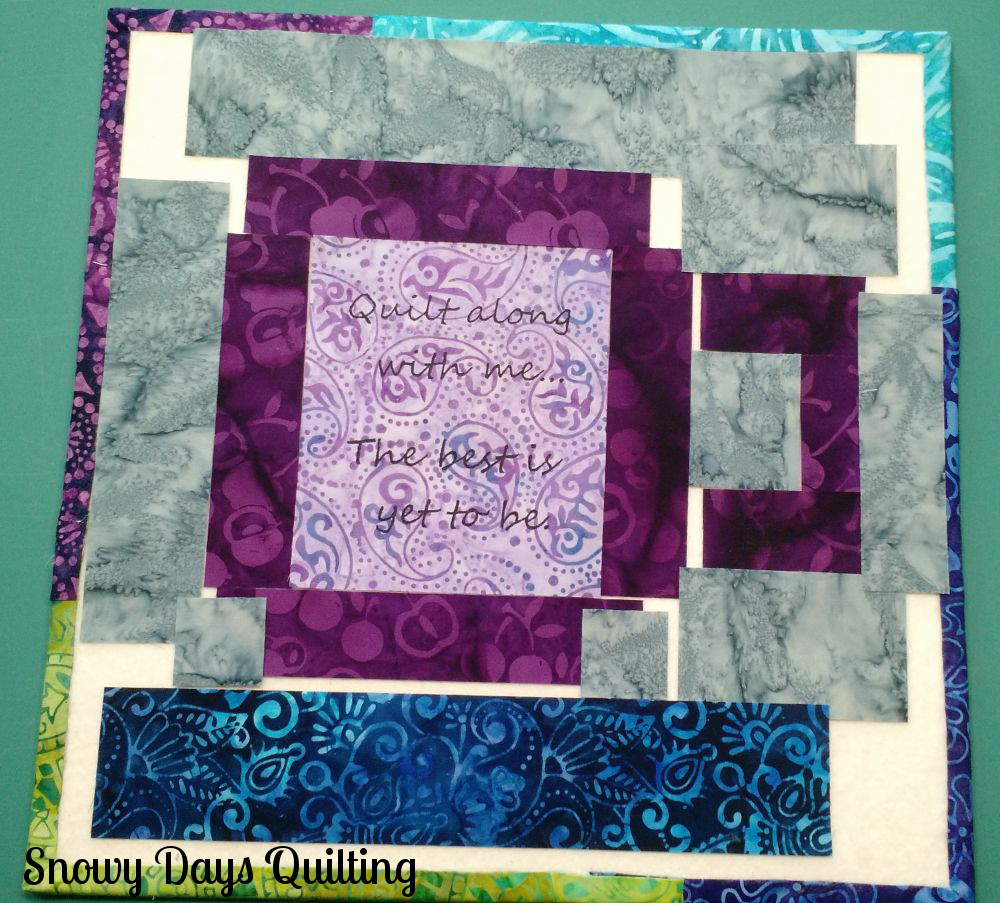 using a quilt block design board