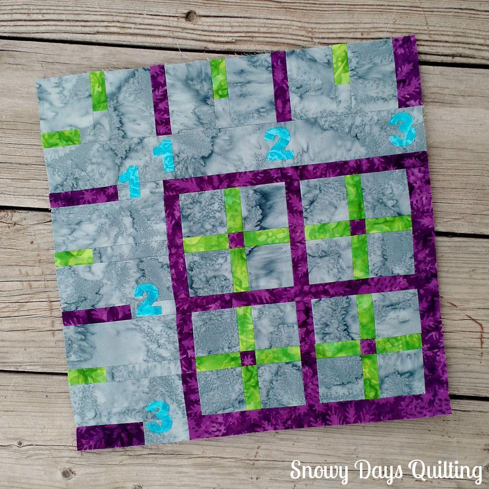 ruler quilt block