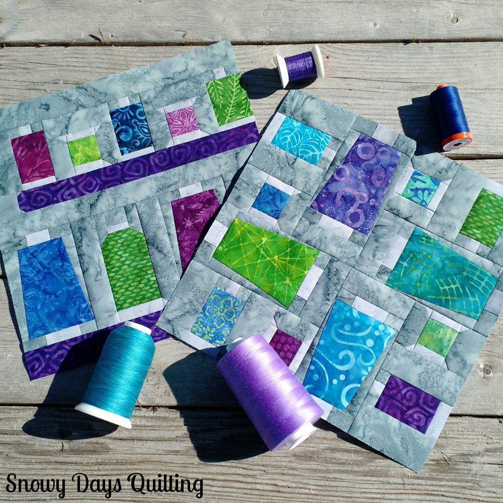 thread spools and cones quilt block