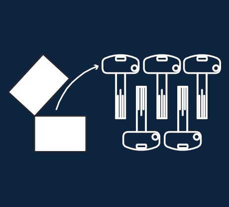 Lleve a cabo el montaje de la Puerta Acorazada SegureStil con la llave de instalación/obra. Una vez finalizada la instalación, proceda a abrir el paquete de llaves perfectamente selladoy accione la cerradura con una de ellas (apertura y cierre con sus correspondientes golpes/giros de llave). Una vez realizado este proceso, la cerradura estará configurada con el nuevo juego de llaves, dejando así de funcionar la llave de instalación/obra.