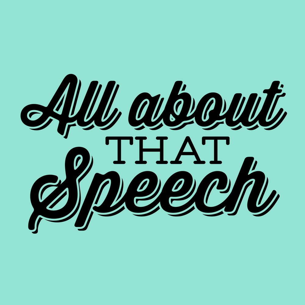 All about that speech, bout that speech... Just another fun pop-culture speech themed design for your favorite tees, mugs, hoodies, and more!