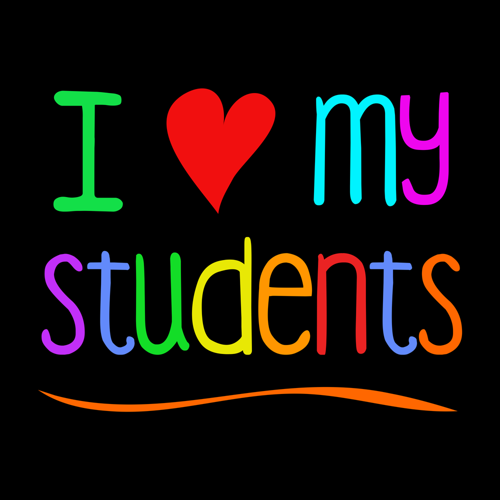 I love my students. Love your students? Show them with this fun design! This teacher tee shirt is sure to make your students feel special.