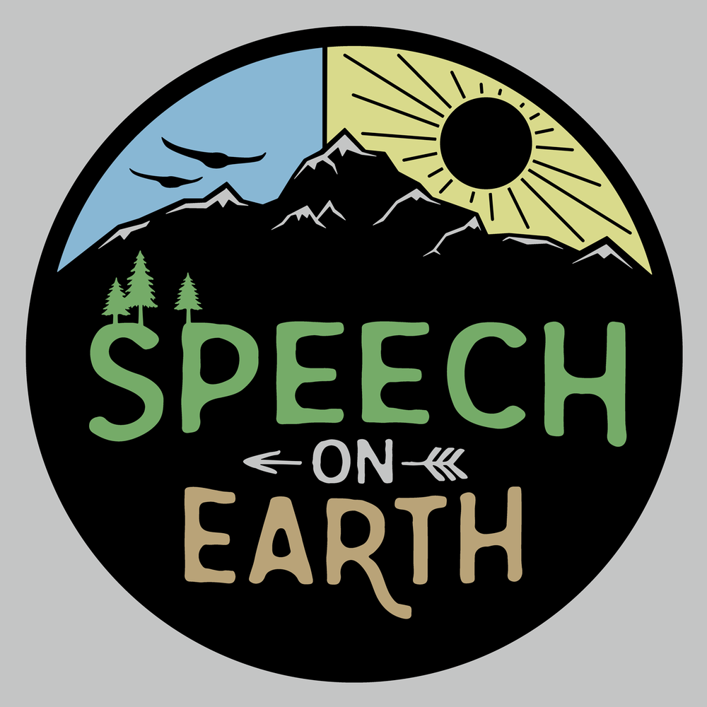 Speech on Earth. Peace on Earth. Earth day shirt, hoodie, sweatshirt, mug, button, and more! This is a great Earth Day design for SLPs.
