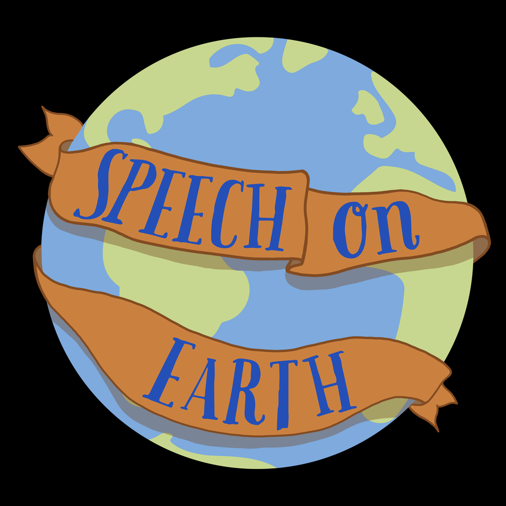 Speech on Earth. Happy Earth Day! This is a great design for a speechie's Earth Day apparel or any day!