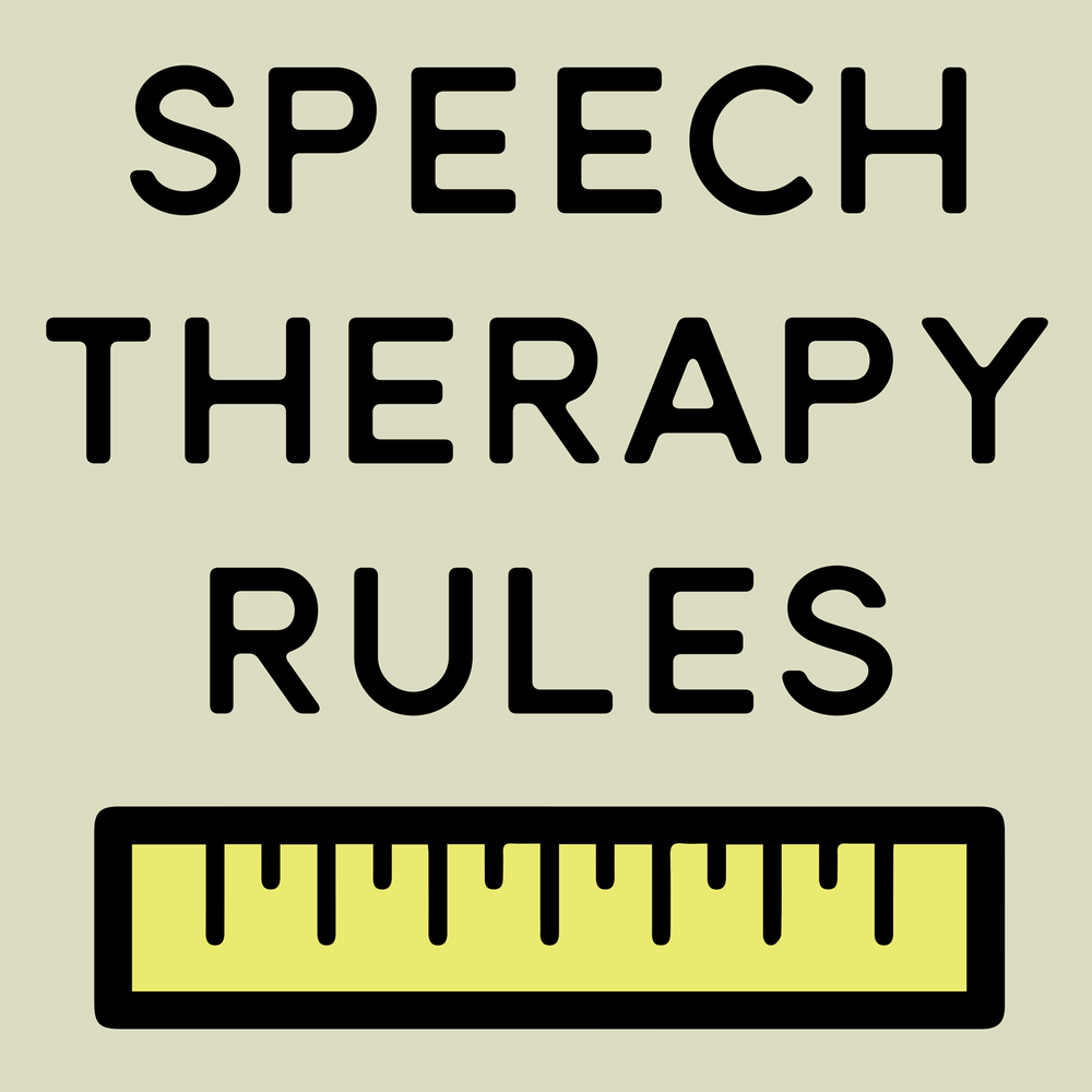 Speech Therapy Rules. Puns Rule!